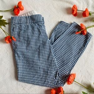 J. Crew City Fit Gingham Cropped Ankle Pant